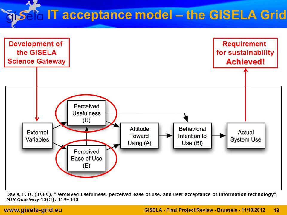 www.gisela-grid.eu – the GISELA Grid 18 Davis, F. D.