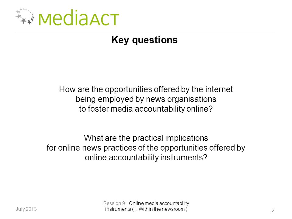 2 July 2013 Session 9 - Online media accountability instruments (1.