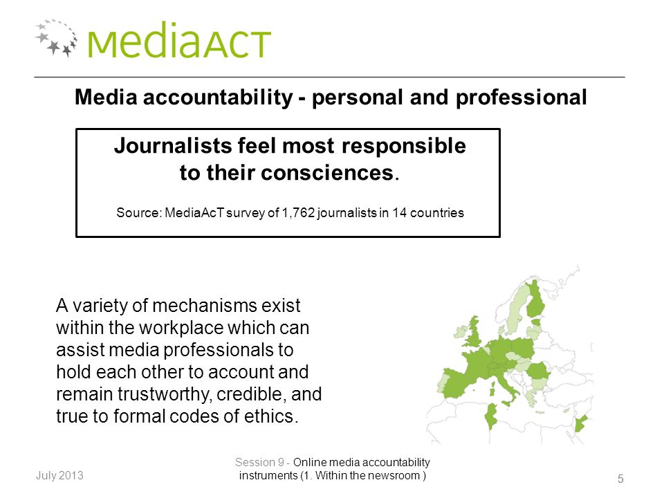 55 July 2013 Session 9 - Online media accountability instruments (1.