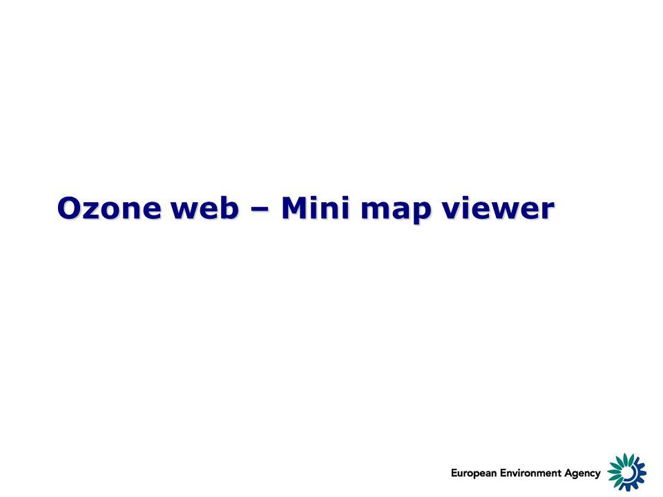 Ozone web – Mini map viewer