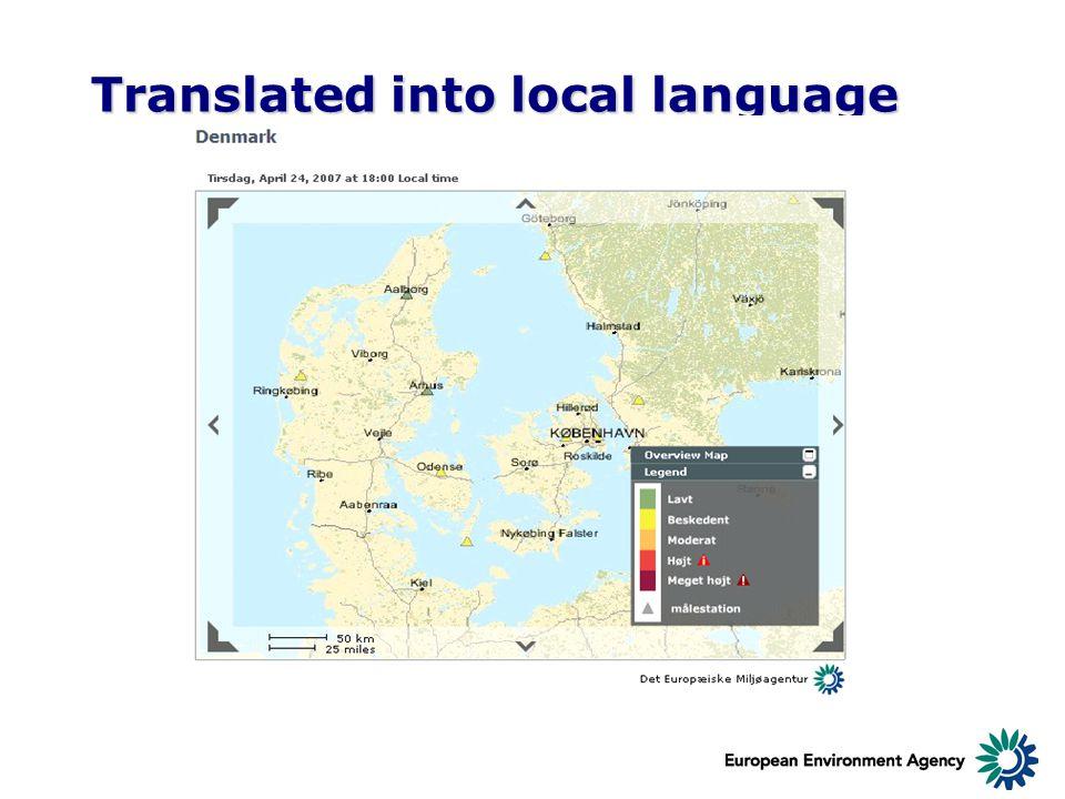 Translated into local language