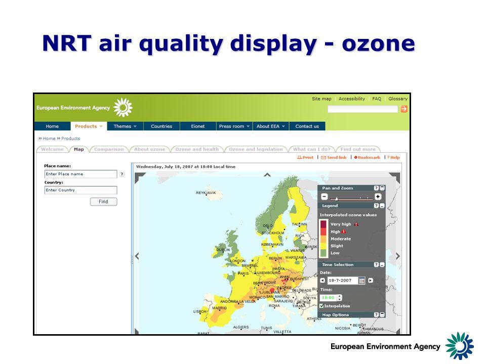 NRT air quality display - ozone