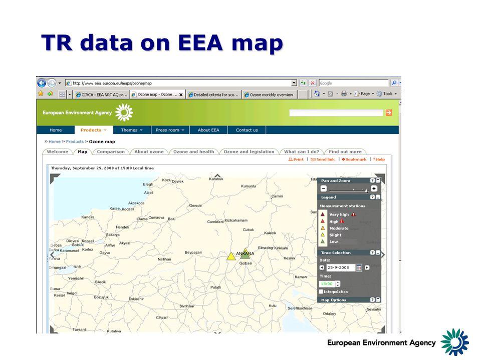 TR data on EEA map