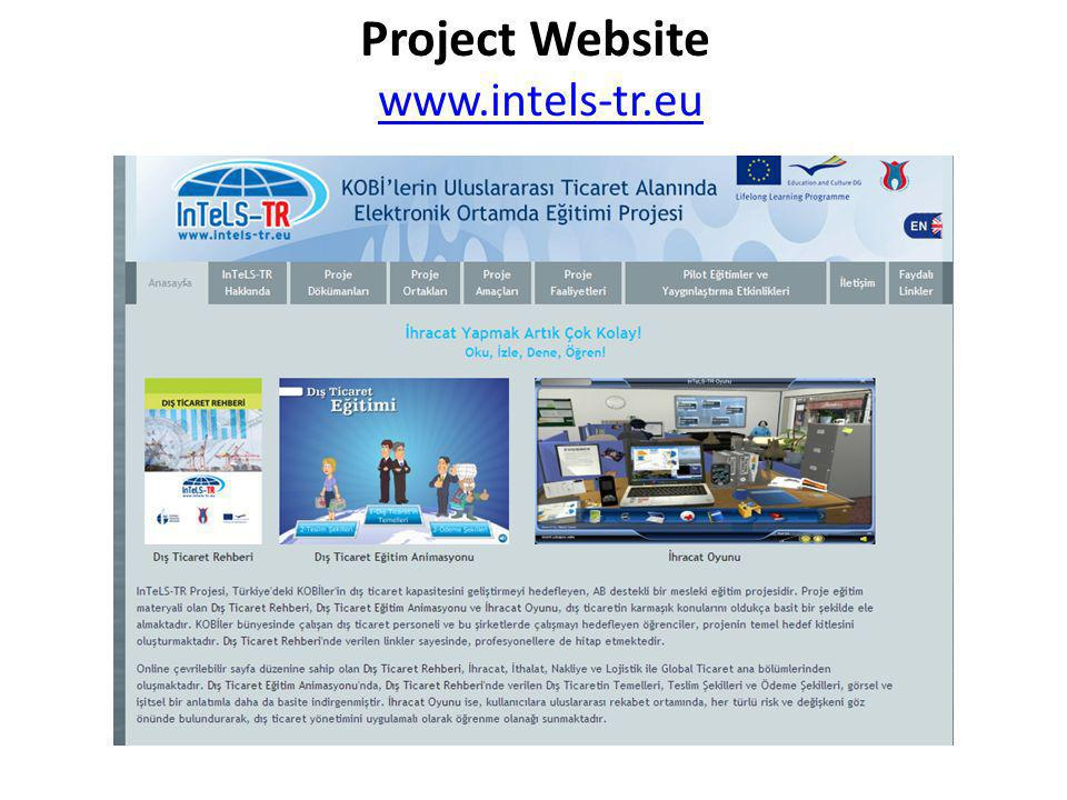 Project Website www.intels-tr.euwww.intels-tr.eu