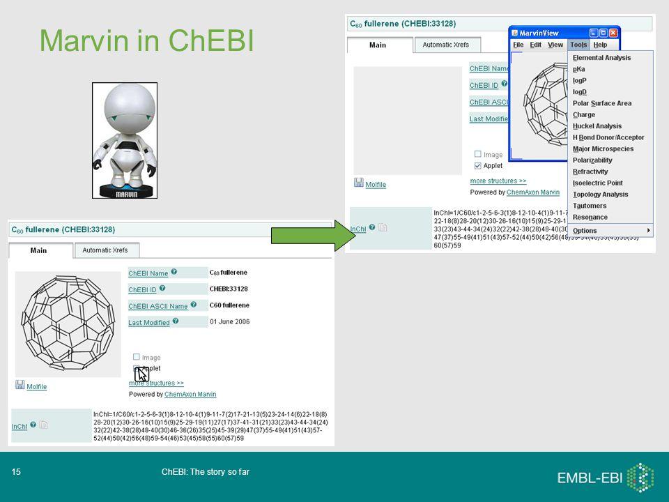 ChEBI: The story so far15 Marvin in ChEBI