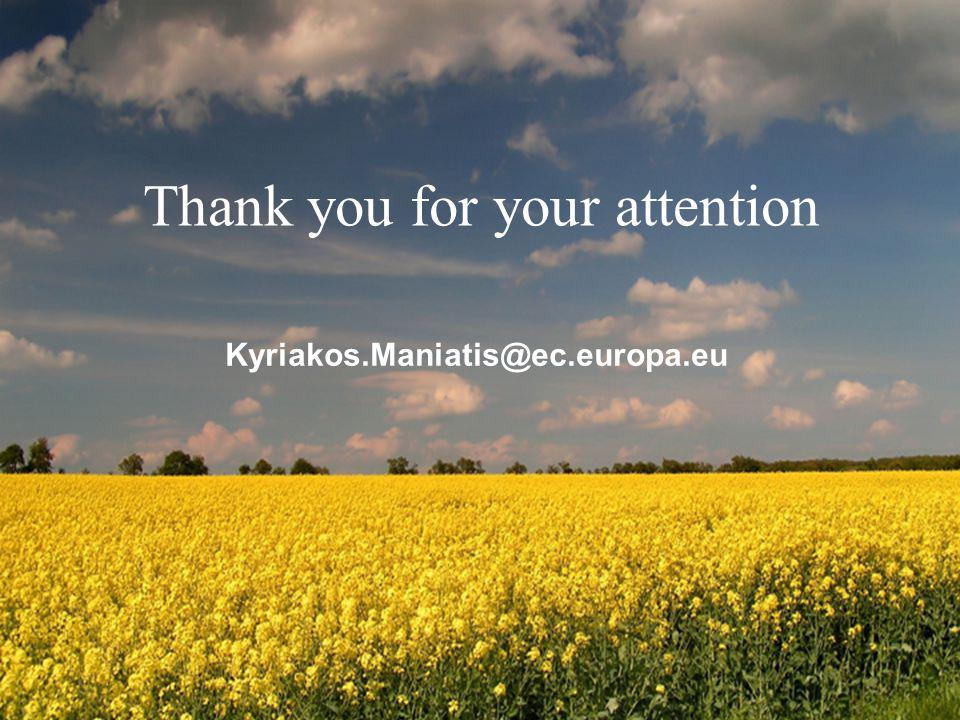Directorate General for Energy Thank you for your attention Kyriakos.Maniatis@ec.europa.eu