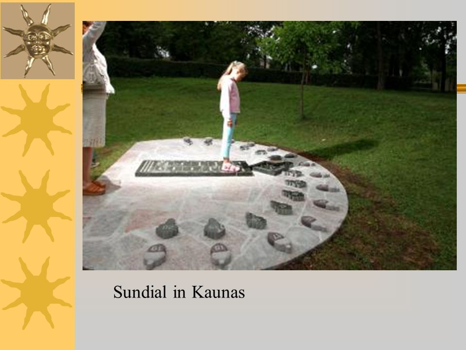 Sundial in Kaunas