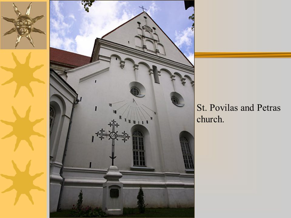 St. Povilas and Petras church.