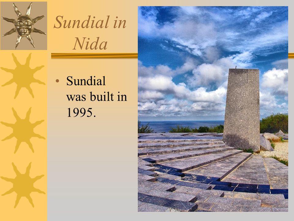 Sundial in Nida Sundial was built in 1995.