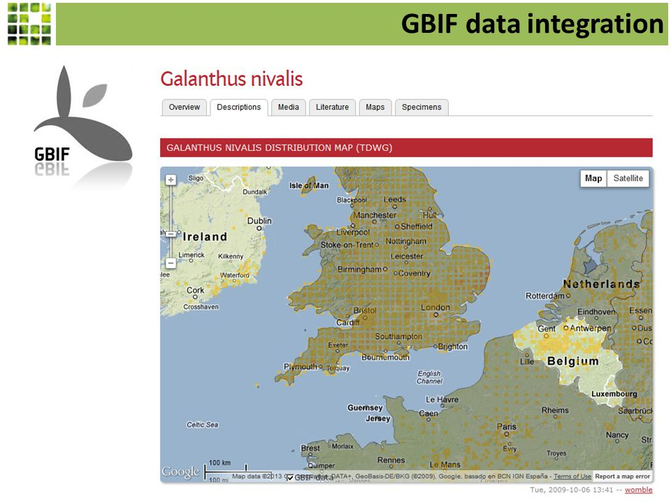 GBIF data integration