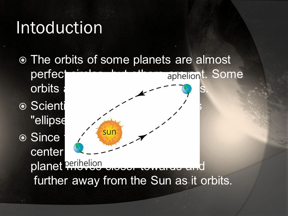 Introduction  The place where the planet is closest to the Sun is called perihelion  When the planet is furthest away from the Sun, it is at aphelion.