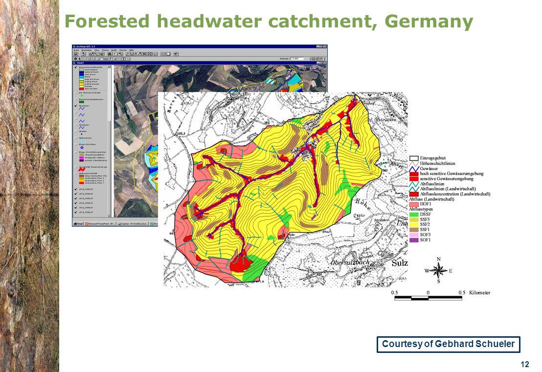 07.0330/2013/659147/SER/ENV.C1- DGENV – Brussels 22/01/14 n.amorsi@oieau.Fr 12 Forested headwater catchment, Germany Courtesy of Gebhard Schueler