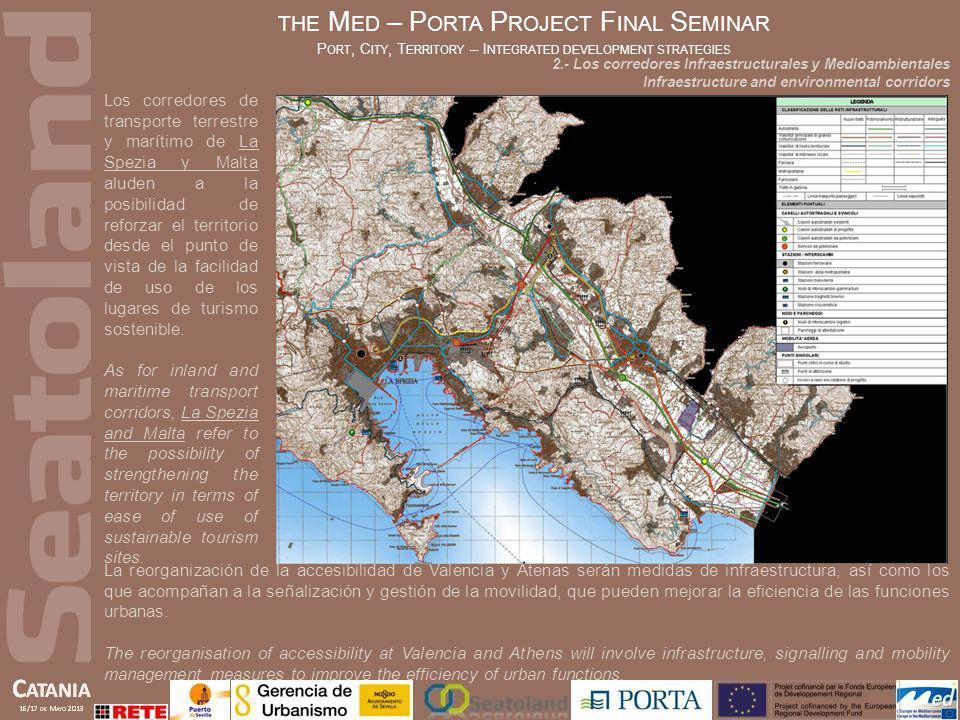 Los corredores de transporte terrestre y marítimo de La Spezia y Malta aluden a la posibilidad de reforzar el territorio desde el punto de vista de la