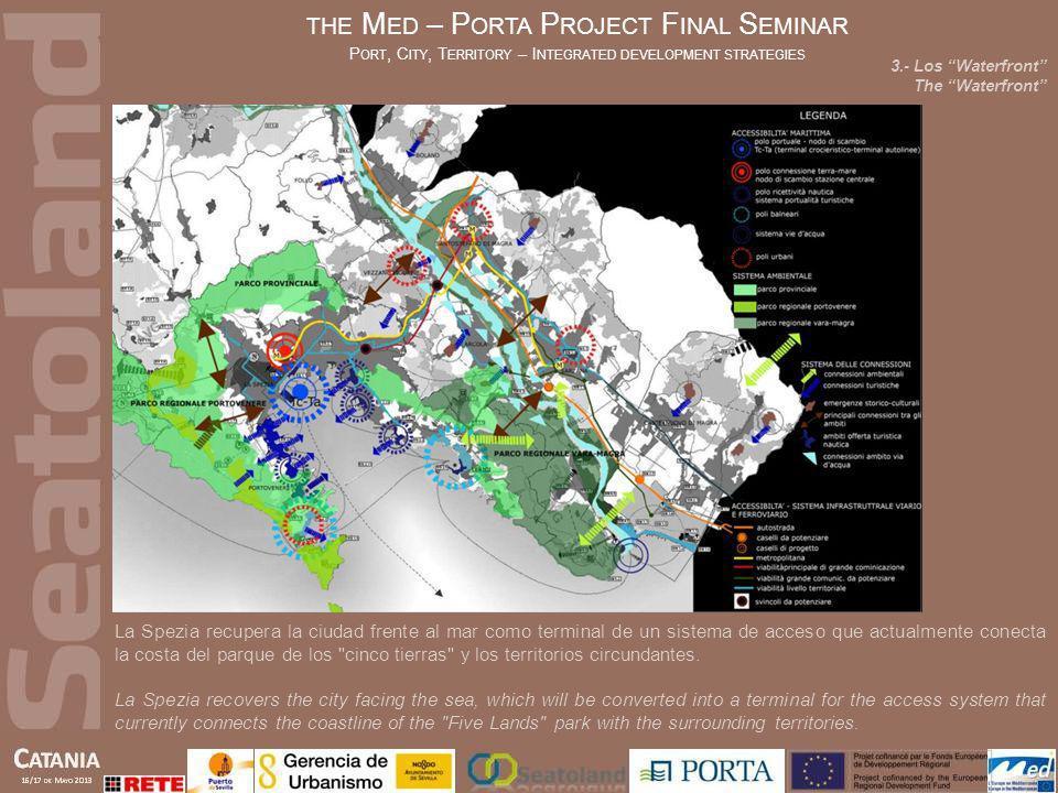 La Spezia recupera la ciudad frente al mar como terminal de un sistema de acceso que actualmente conecta la costa del parque de los