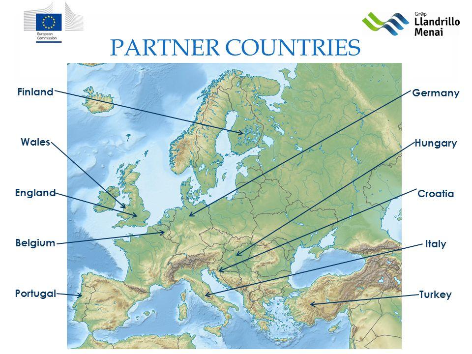 PARTNER COUNTRIES Finland Wales England Belgium Portugal Germany Hungary Croatia Italy Turkey