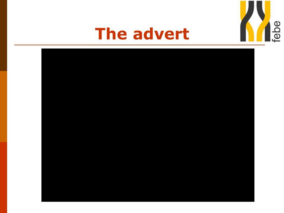 The advert