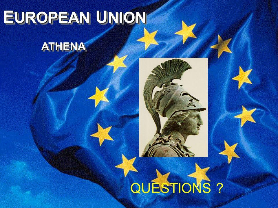 E UROPEAN U NION ATHENA ATHENA E UROPEAN U NION ATHENA ATHENA QUESTIONS ?