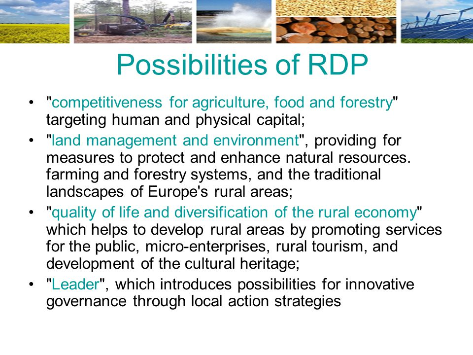 Possibilities of RDP
