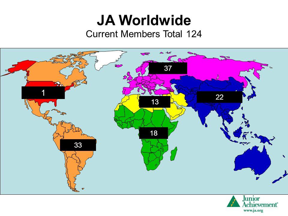 JA Worldwide 1 33 18 22 37 13 Current Members Total 124