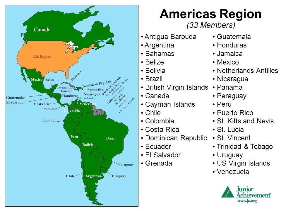 (33 Members) Americas Region Antigua Barbuda Argentina Bahamas Belize Bolivia Brazil British Virgin Islands Canada Cayman Islands Chile Colombia Costa