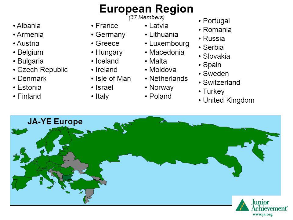 European Region (37 Members) Albania Armenia Austria Belgium Bulgaria Czech Republic Denmark Estonia Finland France Germany Greece Hungary Iceland Ire