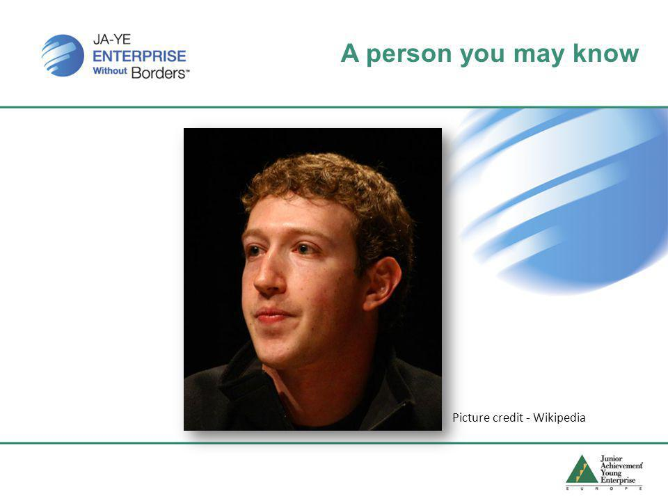 A person you may know Picture credit - Wikipedia