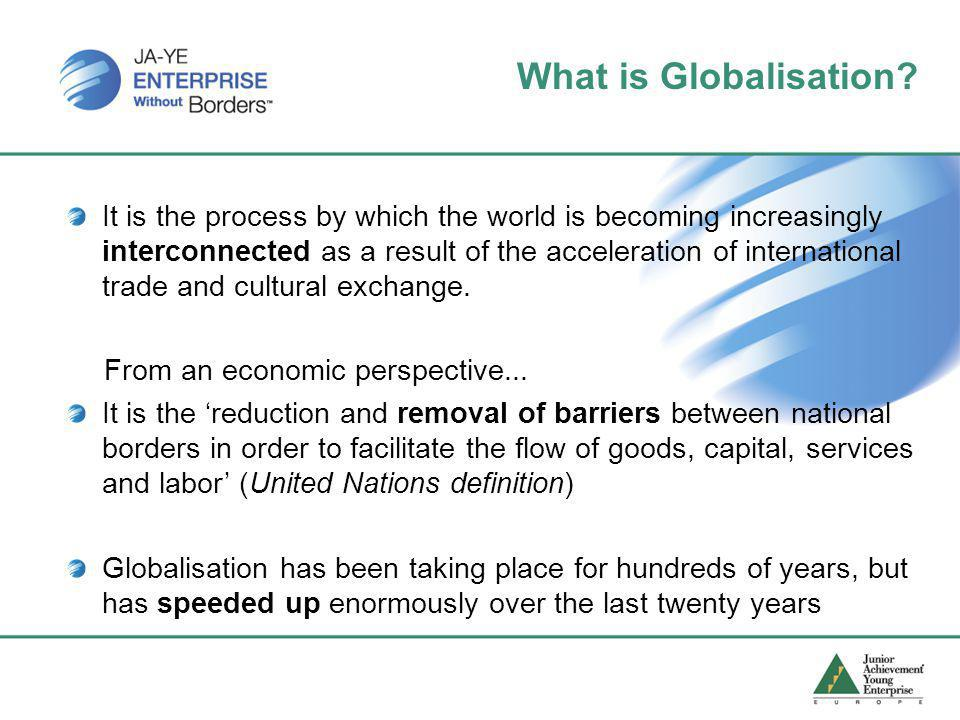 Why is Globalisation accelerating? A number of important reasons.... Picture credit - ESA