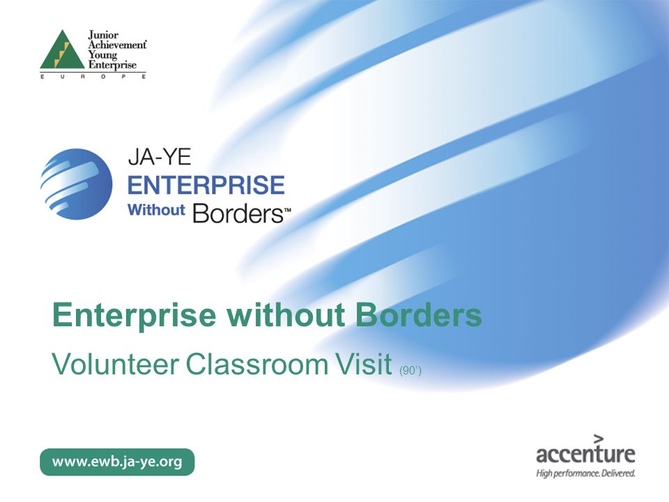 Enterprise without Borders Volunteer Classroom Visit (90')