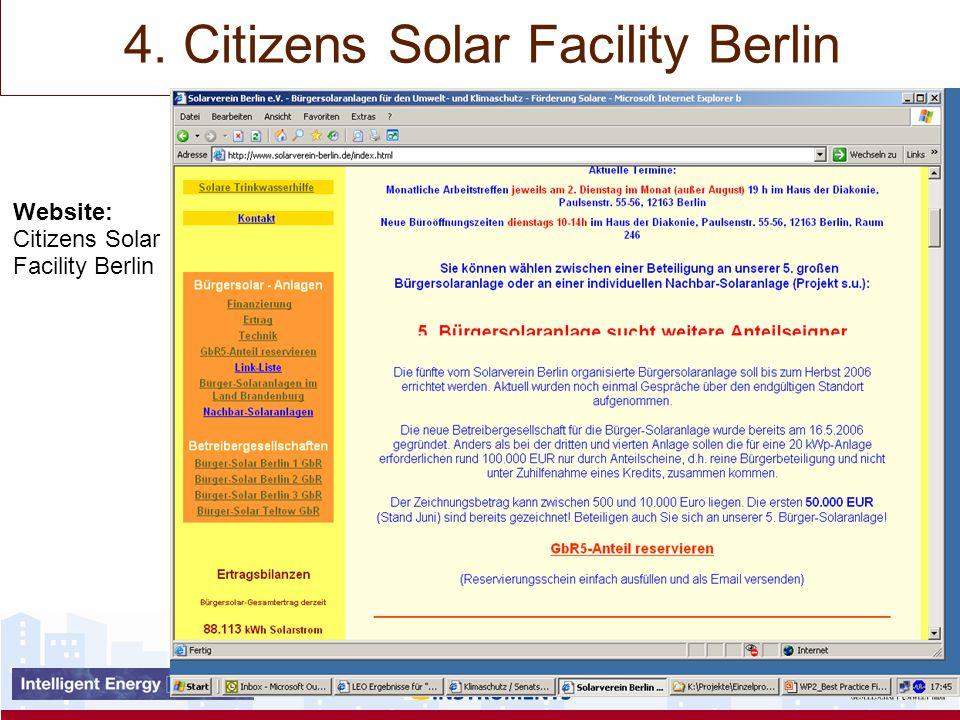 Website: Citizens Solar Facility Berlin 4. Citizens Solar Facility Berlin