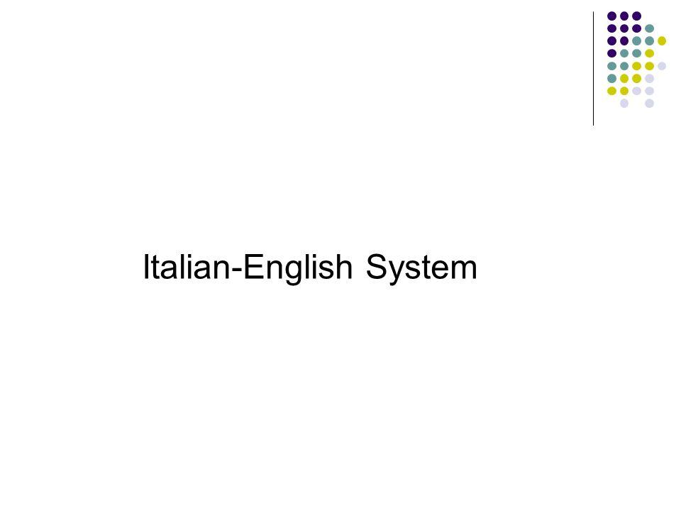Italian-English System