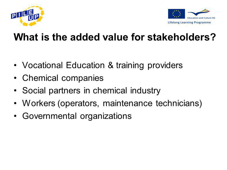 What is the added value for stakeholders.