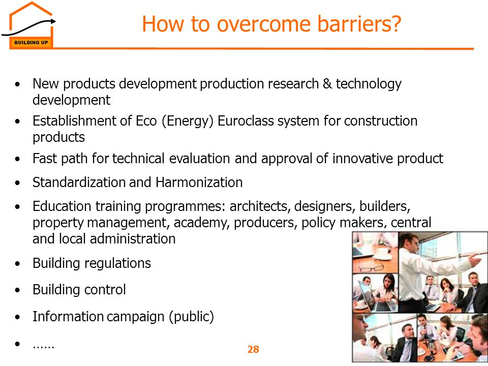 28Ljubljana, 29/08/2012 How to overcome barriers.