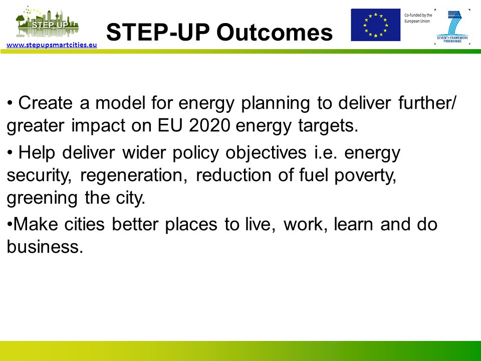 Page 5 www.stepupsmartcities.eu What we are doing