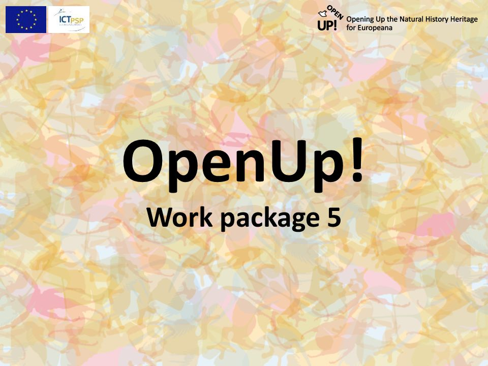 OpenUp! Work package 5