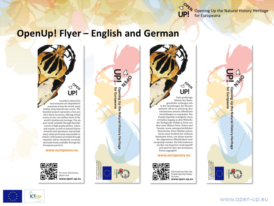 www.open-up.eu OpenUp! Flyer – English and German