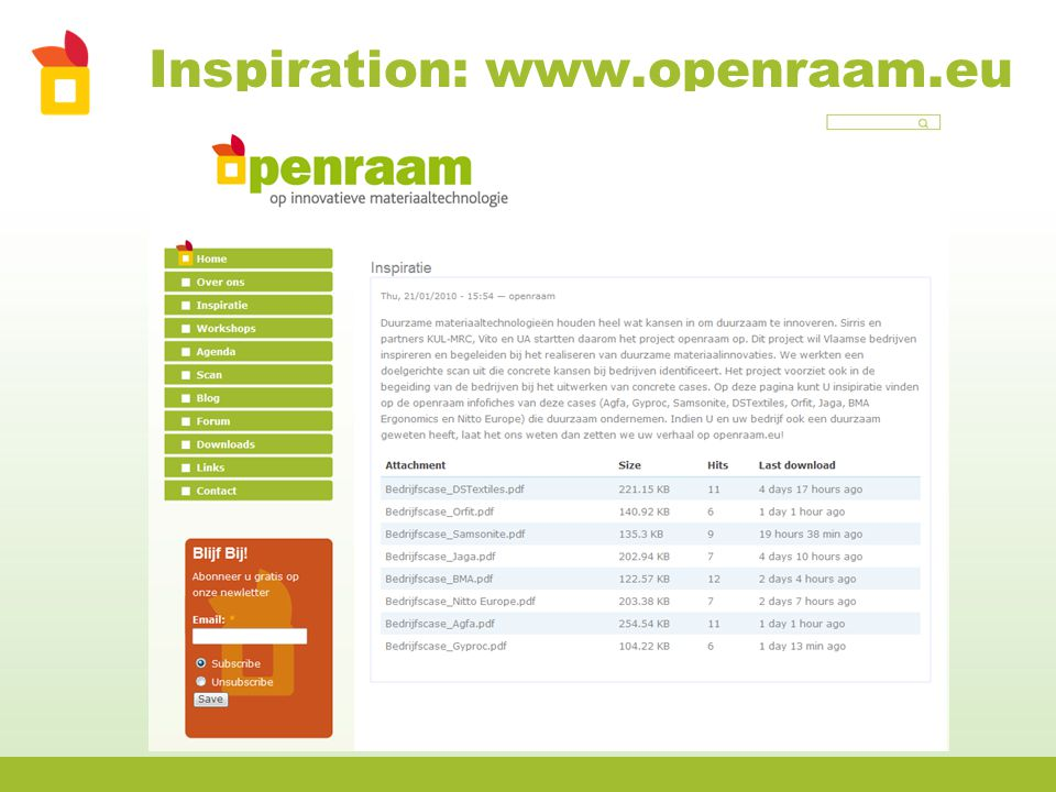 Inspiration: www.openraam.eu