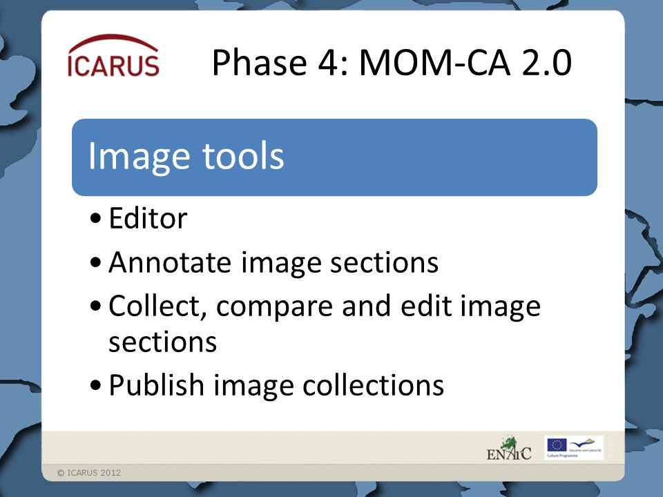Image tools Editor Annotate image sections Collect, compare and edit image sections Publish image collections