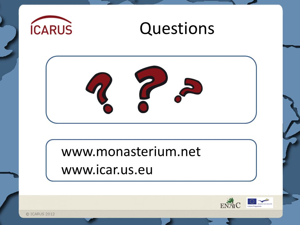 Questions www.monasterium.net www.icar.us.eu