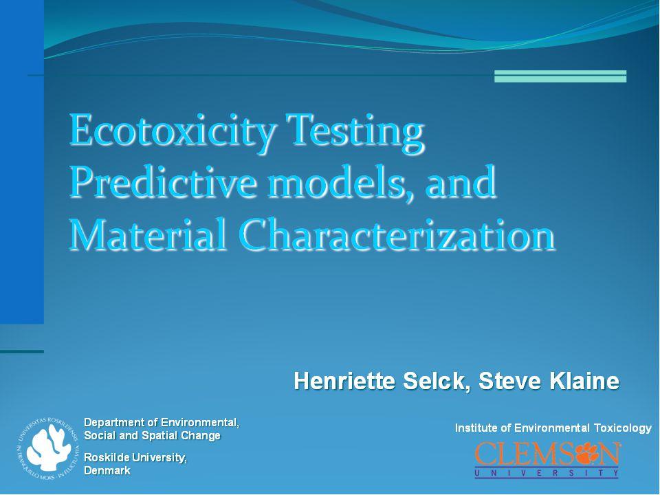 Predictive Modeling for Human Health, with Material Characterization Bengt Fadeel, Karolinska Institutet Nathan Baker, Pacific Northwest National Laboratory