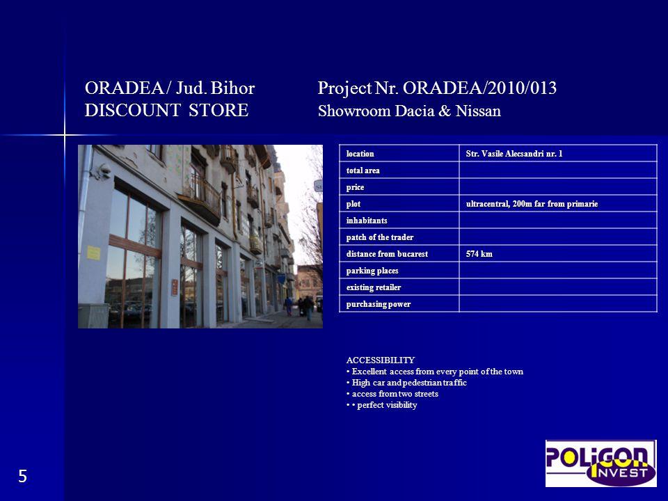 ORADEA / Jud. Bihor Project Nr. ORADEA/2010/013 DISCOUNT STORE Showroom Dacia & Nissan 6