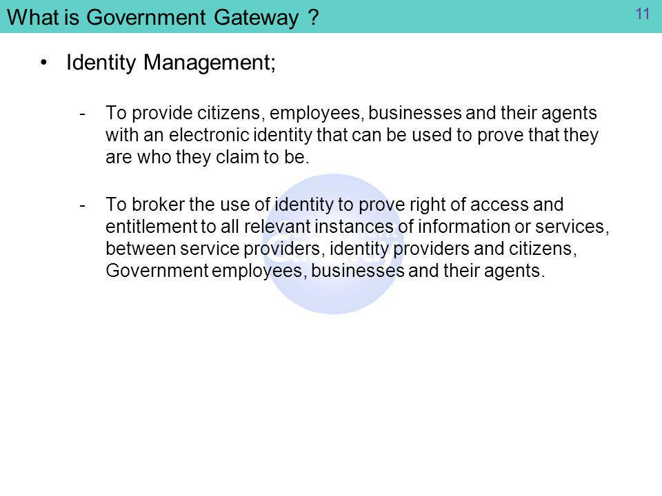 What is Government Gateway .