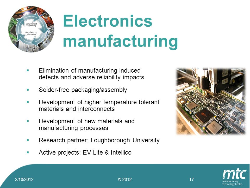  Elimination of manufacturing induced defects and adverse reliability impacts  Solder-free packaging/assembly  Development of higher temperature to