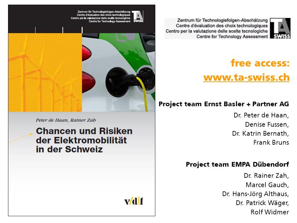 Project team Ernst Basler + Partner AG Dr. Peter de Haan, Denise Fussen, Dr.
