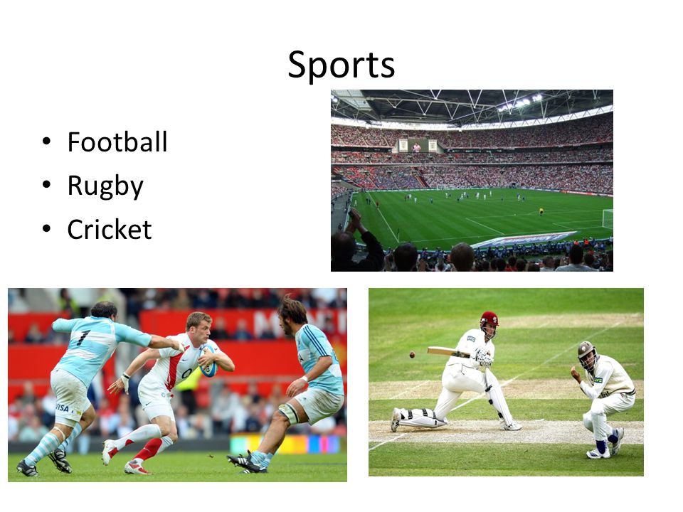Sports Football Rugby Cricket