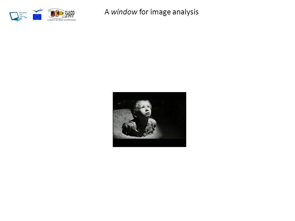 A window for image analysis