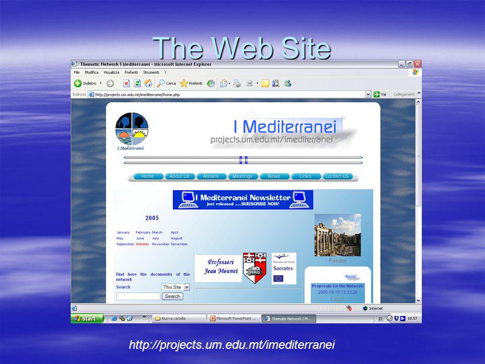 The Web Site http://projects.um.edu.mt/imediterranei