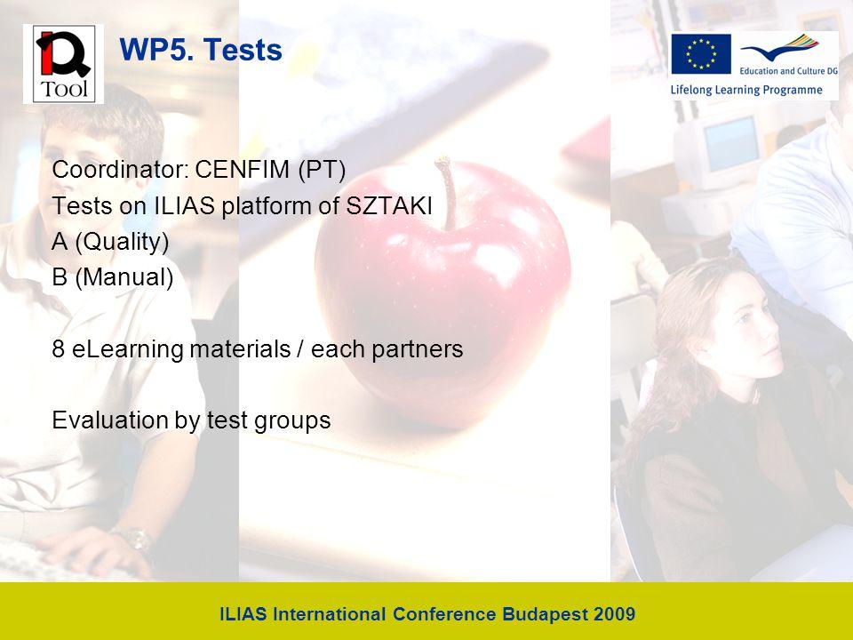 ILIAS International Conference Budapest 2009