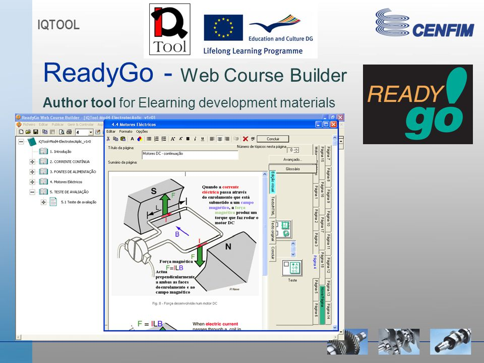 ReadyGo - Web Course Builder Author tool for Elearning development materials IQTOOL
