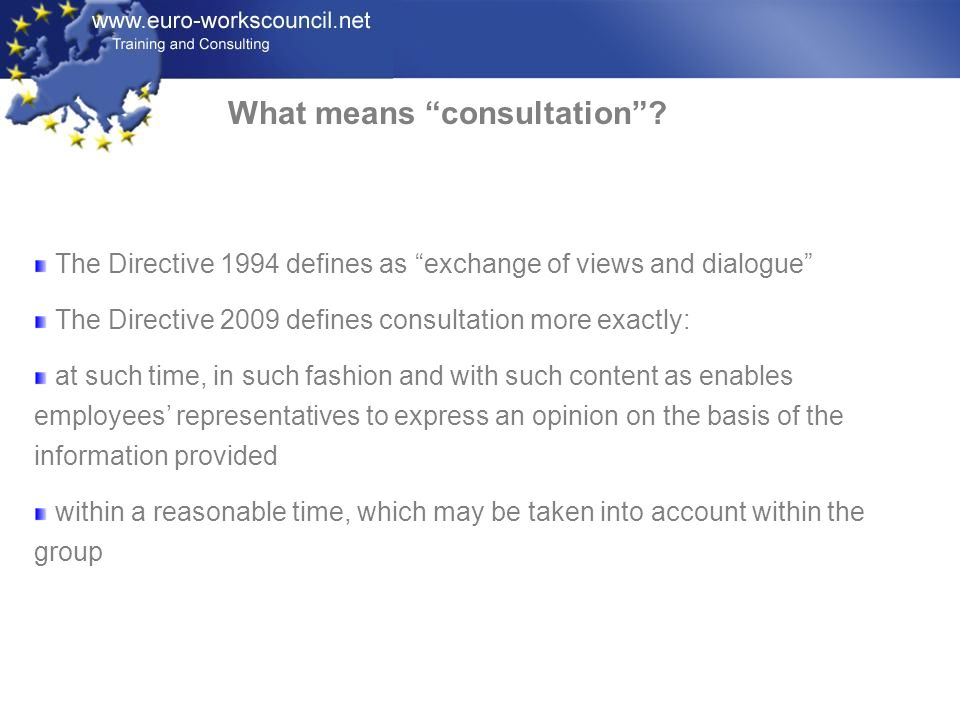 What means consultation .