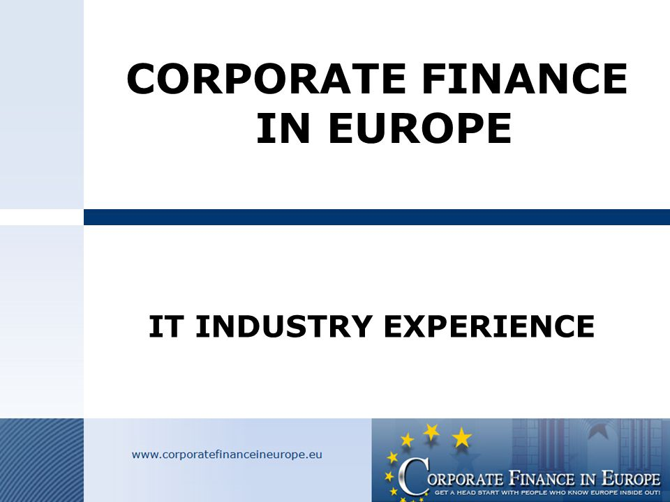 Index CFIE This presentation contains the following items:  Background CFIE  Objectives CFIE  International network  Team CFIE Govert Derks Alain de Vera Hans-Peter Christen Wolfgang Braun  Industry Focus  Buyer search  Action Plan and Timing  Customer profiles  Valuation  Current personal IT mandates  Team IT closings and projects  P ersonal closed projects